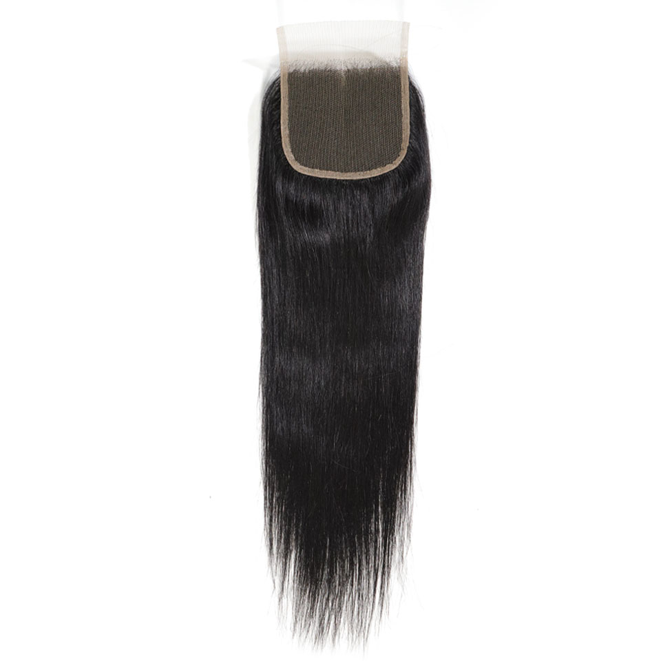 Natural Straight Closure 4x4 Middle Parting